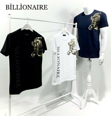 Брендовые футболки LUX качество Бренд - BILLIONAIRE Цвет - Белый & Черны