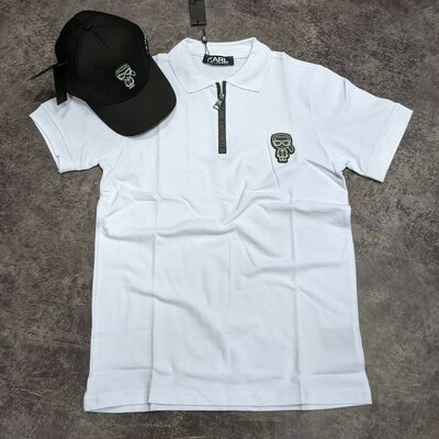 Крутейшая эксклюзивная модель футболки Karl Lagerfeld Люкс качество Maте