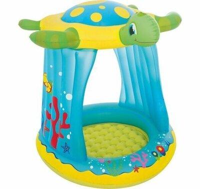 Продано: Игровой надувной центр для детей с крышей Bestway 52219 Черепашка размер 109-96-104 см