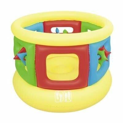 Продано: Детский игровой, яркий, надувной батут-манеж для детей от 3-х лет Bestway 52056 размер 152 107 см