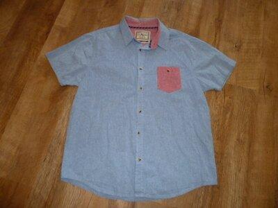 Классная льняная рубашка, р L, лен и хлопок