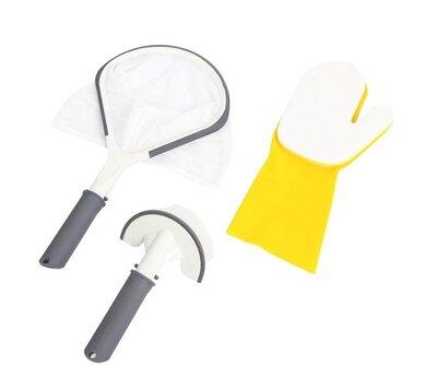 Набор для чистки бассейна, джакузи сачок, щетка, перчатка