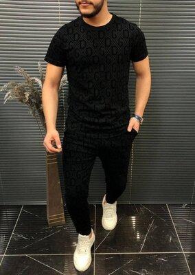 Мужской комплект штаны футболка Dolce&Gabbana black