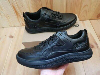 Мужские кожаные черные кроссовки,демисезонные,чоловічі кросівки шкіряні,чорні