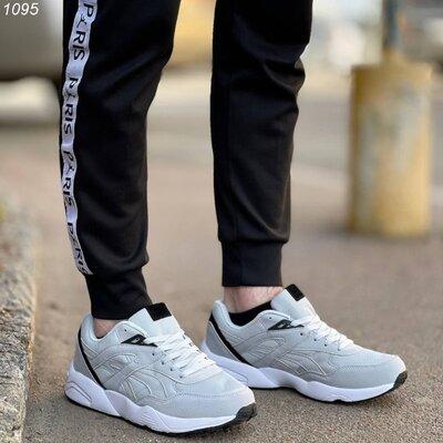 Код 1095 Мужские Кроссовки Материал эко- замша обувной текстиль