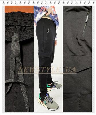 Спортивні чоловічі штани джогери з манжетами двунитка. Мужские трикотажные штаны джогеры