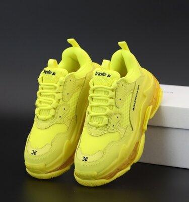 Унісекс жіночі чоловічі кросівки Balenciaga Triple S 36-45 Багатошарова підошва