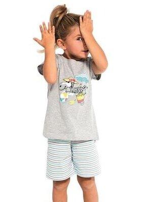 Детская хлопковая пижама цвета серый меланж cornette 787/71 relax