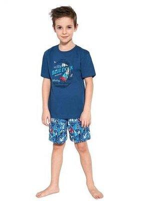 Летняя хлопковая пижама на мальчика синего цвета cornette 790/96 blue dock