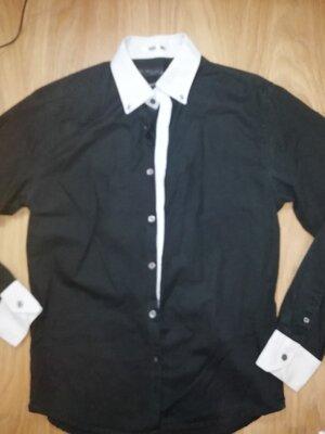 Черная рубашка. Размер 44-46