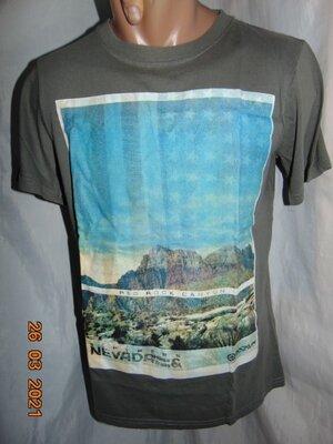 Стильная катоновая фирменная футболка Small .xs- s.унисекс