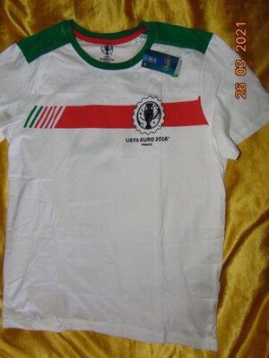Новая катоновая футболка футбольная Euro .зб Португалии .л
