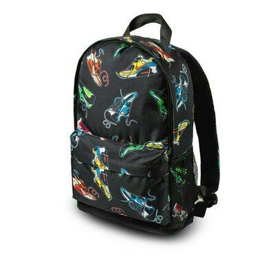 Стильный молодежный рюкзак с принтомкроссовки. Для путешествий, тренировок, учебы