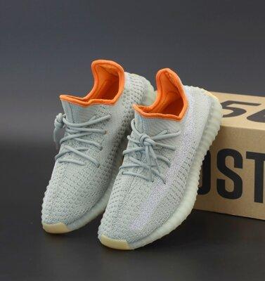 Чоловічі кросівки Adidas Yeezy Boost 350 41-45 Рефлективна смужка