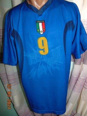 Спортивная фирменная футбольная футболка зб Италии .Toni.л-хл
