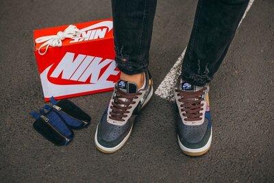 мужские кроссовки N//ke Air Force x Travis Scott Cactus Jack
