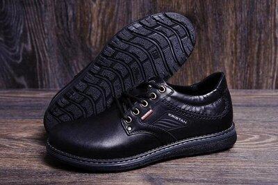 Туфлі шкіряні,чорний,коричневий