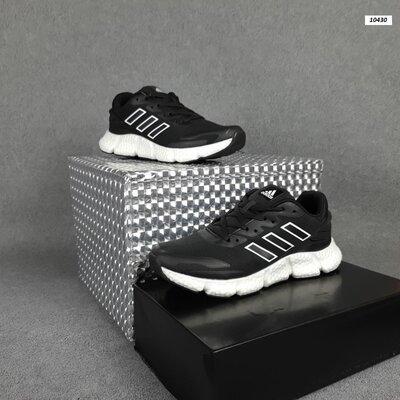 Кроссовки мужские Adidas Чёрные на белой
