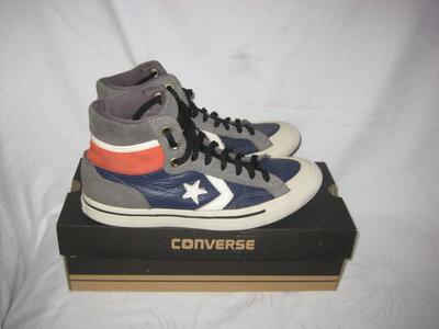 Ботинки кроссовки хайтопы сникерсы Converse 40 размер по стельке 26 см. Оригинал..кожаные.легенькие