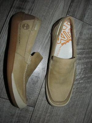 Кожаные туфли мокасины timberland р.8,5 w - 28 см