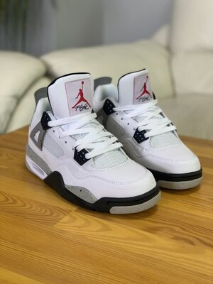 Кроссовки Nike Air Jordan 4, белые, 00318