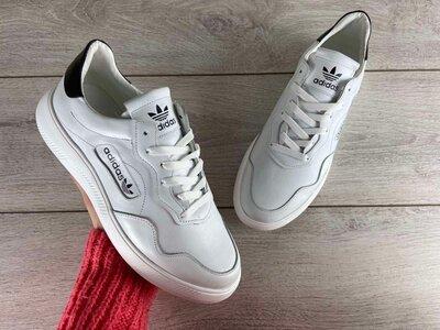 Кожаные мужские кроссовки Adidas model-A02
