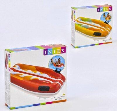 Intex Детский надувной плотик 58165 Серфинг с ручками, 112х62см, от 6 лет