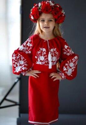 Плаття для дівчинки Букет червоне