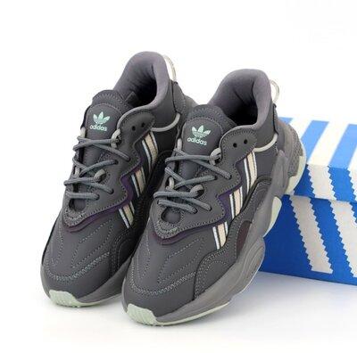 Мужские кроссовки Adidas Ozweego. Рефлектив. Унисекс. Grey