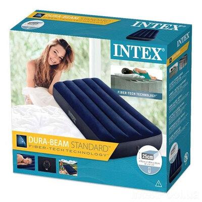 Матрас надувной одноместный Intex 64756, 76х121х75 см