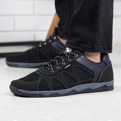 Кросівки чоловічі сітка на літо / Кроссовки мужские сетка S 15 чорні