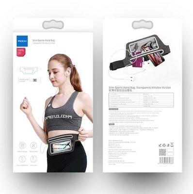Спортивный чехол на пояс ROCK Ultra Thin Sport Waist Bag до 6.5 130см Материал Силикон TPU , Ткань