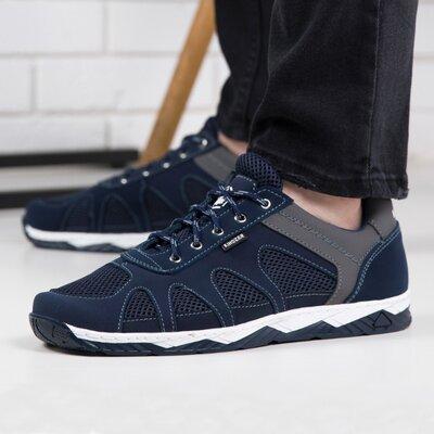 Кросівки чоловічі сітка на літо / Кроссовки мужские сетка S 15 сині