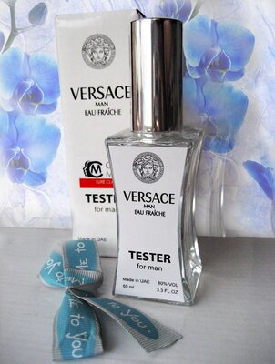 Туалетная вода тестер люкс Versace Man Eau Fraiche парфюм мужской эмираты стойкий аромат