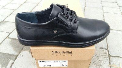 Туфли натуральная кожа мужские на шнурках