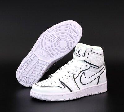 Мужские кроссовки Nike Air Jordan 1 Retro. Рефлектив White. Джордан Унисекс