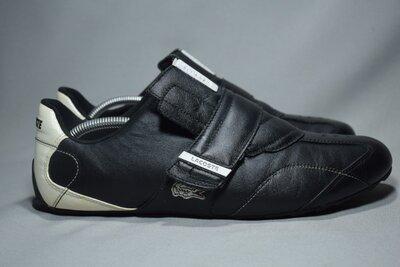 Lacoste кроссовки мужские кожаные на липучке. Оригинал. 44 р./ 29 см.