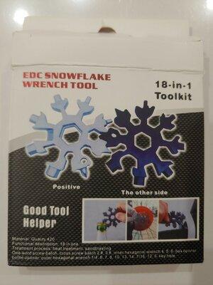 Брелок мультитул-сніжинка 18 в 1 SNOWFLAKE WRENCH TOOL