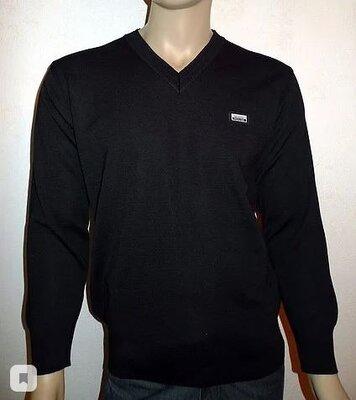 Мужской черный свитер с вырезом мыс White House Турция