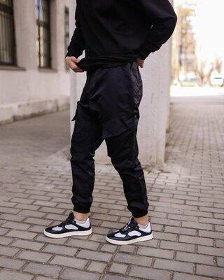 Весенние карго штаны черные
