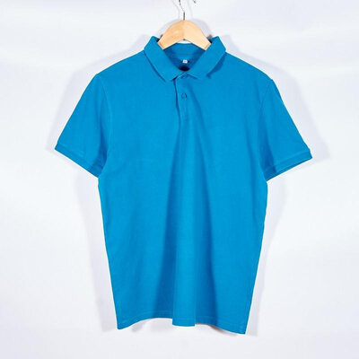 Мужская футболка-поло синяя, чоловіча футболка-поло синя