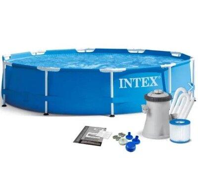 Продано: Бассейн Intex 28202 Metal Frame Pools диаметр 305 м /объем 4500л с катриджным фильтр-насосом