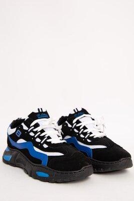 Кроссовки Мужские 129R181120-1 Цвет Черно-Синий