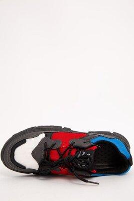 Кроссовки Мужские 129R131120-1 Цвет Черно-Красный