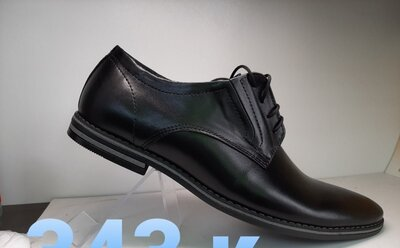 Туфли натуральная кожа классика мужские модельные на шнурках van kristi