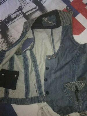 Продано: R.Marks, S размер, жилетка унисекс джинсовая. Жилет