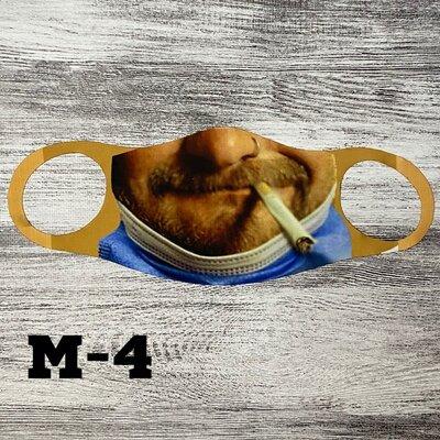 Прикольная маска с лицом м-4
