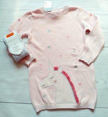 Набор платье-туника, колготы для девочки Primark