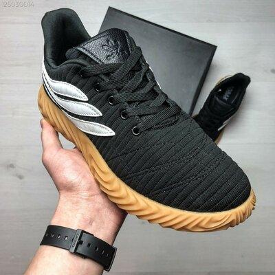 Мужские кроссовки Adidas Sobakov чёрные с белым