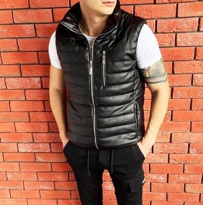 Жилетка Leather black